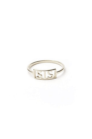 Sis Ring, Sterling Silver