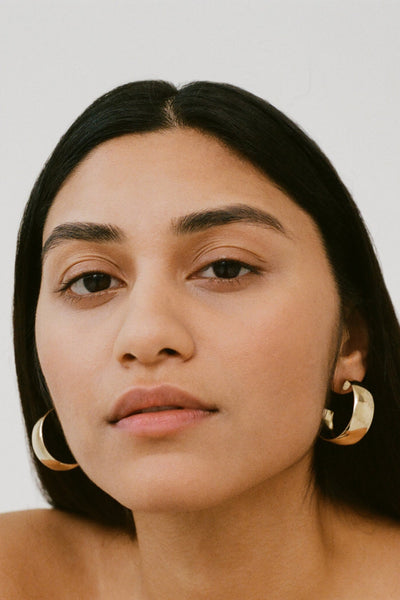 Hoop Earrings, Gold Plated