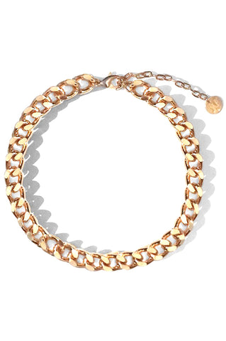 Rainier Chain Choker, Gold Plated