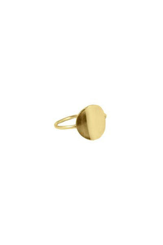 Circle Ring, Gold Plated