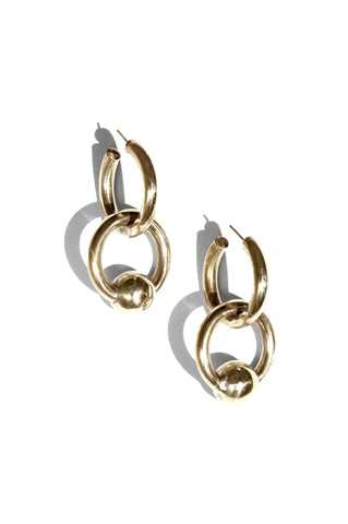 Cozette Earrings, Gold Plated