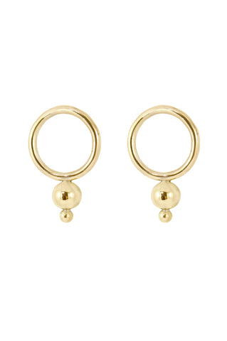Double Drop Earrings, Gold Plated