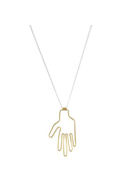 Hand Necklace, Gold Plated