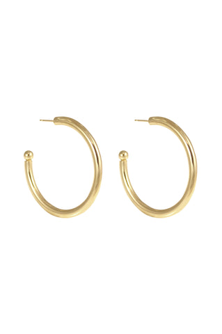 Large Hoop Earrings, Gold Plated