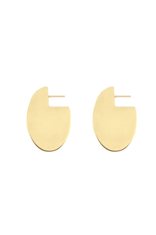 Oval Earrings, Gold Plated