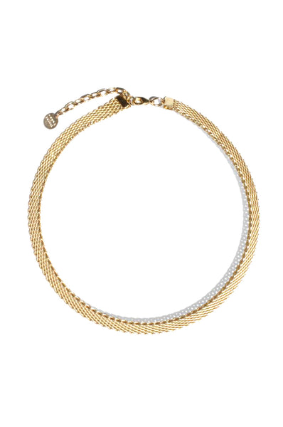 Quinn Mesh Collar, Gold Plated