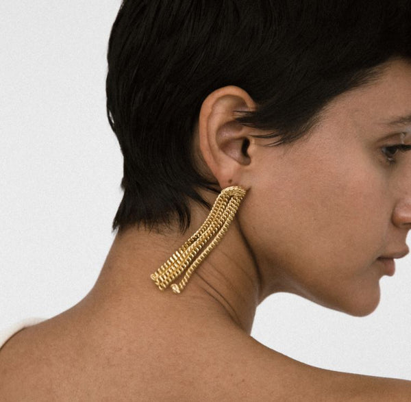 Stanton Earrings, Gold Plated