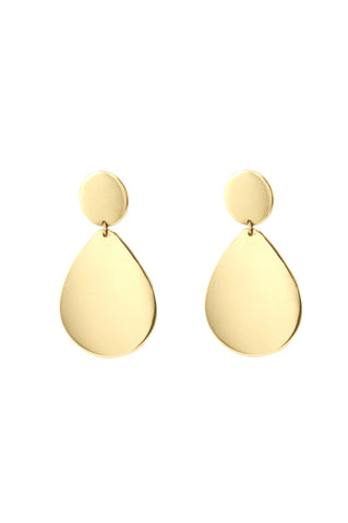 Teardrop Earrings, Gold Plated