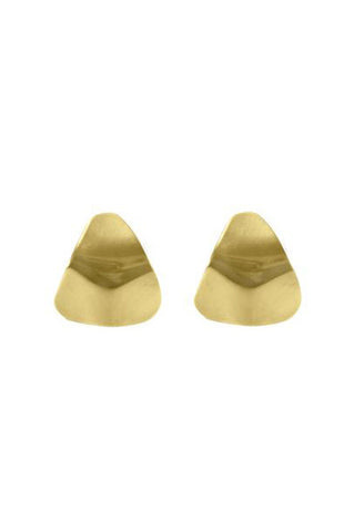 Trine Earrings, Gold Plated