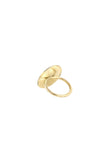 Circle Hammered Ring, Gold Plated
