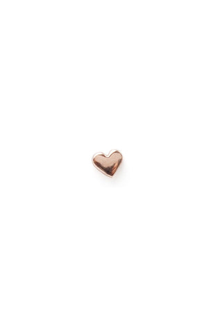 Classic Heart Stud, 14K Rose Gold