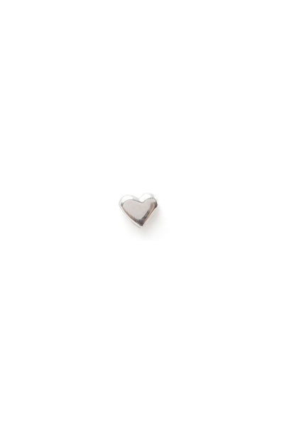 Classic Heart Stud, Sterling Silver