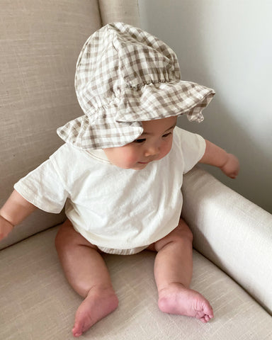 Latte Bucket Hat, Check (Baby)