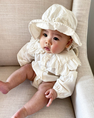 Romantic Bodysuit, Cream (Baby)