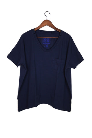 #61 Short Sleeve Tee, Navy Wash