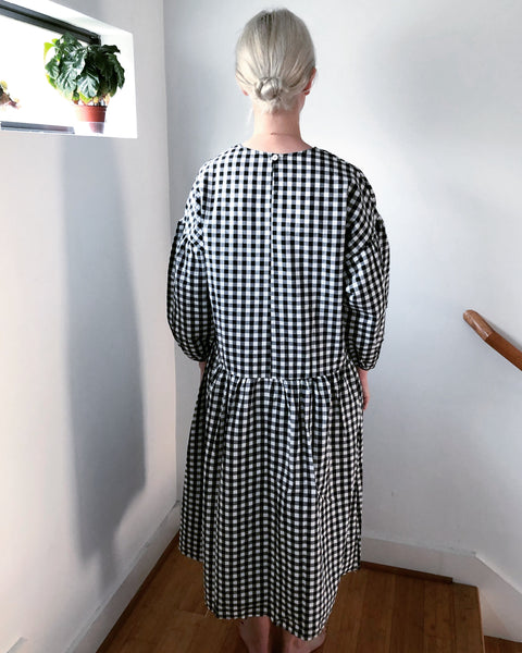 May Dress, Black Gingham
