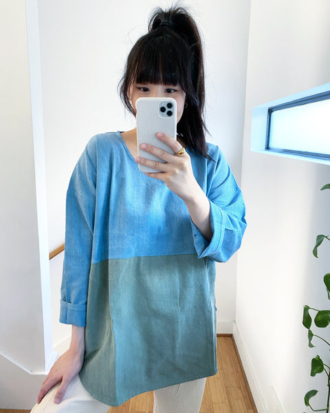 Everyday Top, Seafoam Indigo