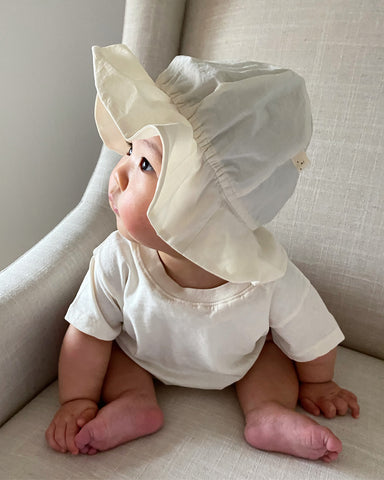 Latte Bucket Hat, Ivory (Baby)