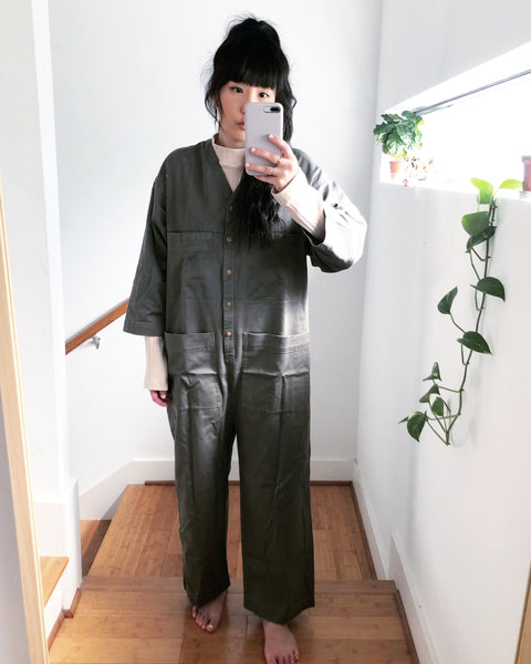 Tuck Coverall, Peat, Heavy Twill