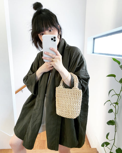 Haori Coat, Hunter Green, Cotton