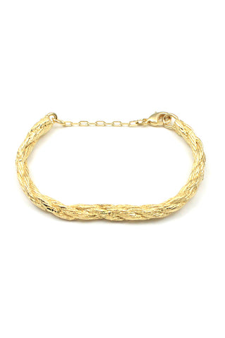 Andi Bracelet, Gold Plated Brass