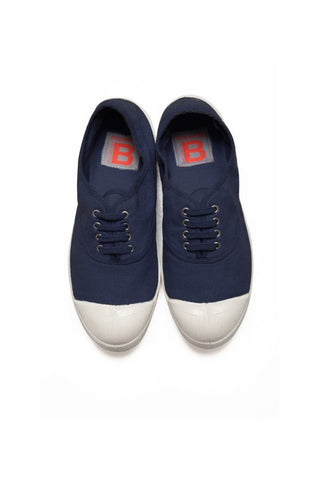 Lace Up Tennis, Navy