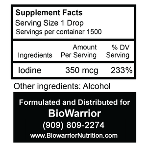 THYROID WARRIOR NASCENT IODINE 1 oz. Bottle