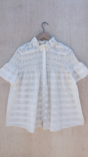 Nora top, <i>natural check</i>