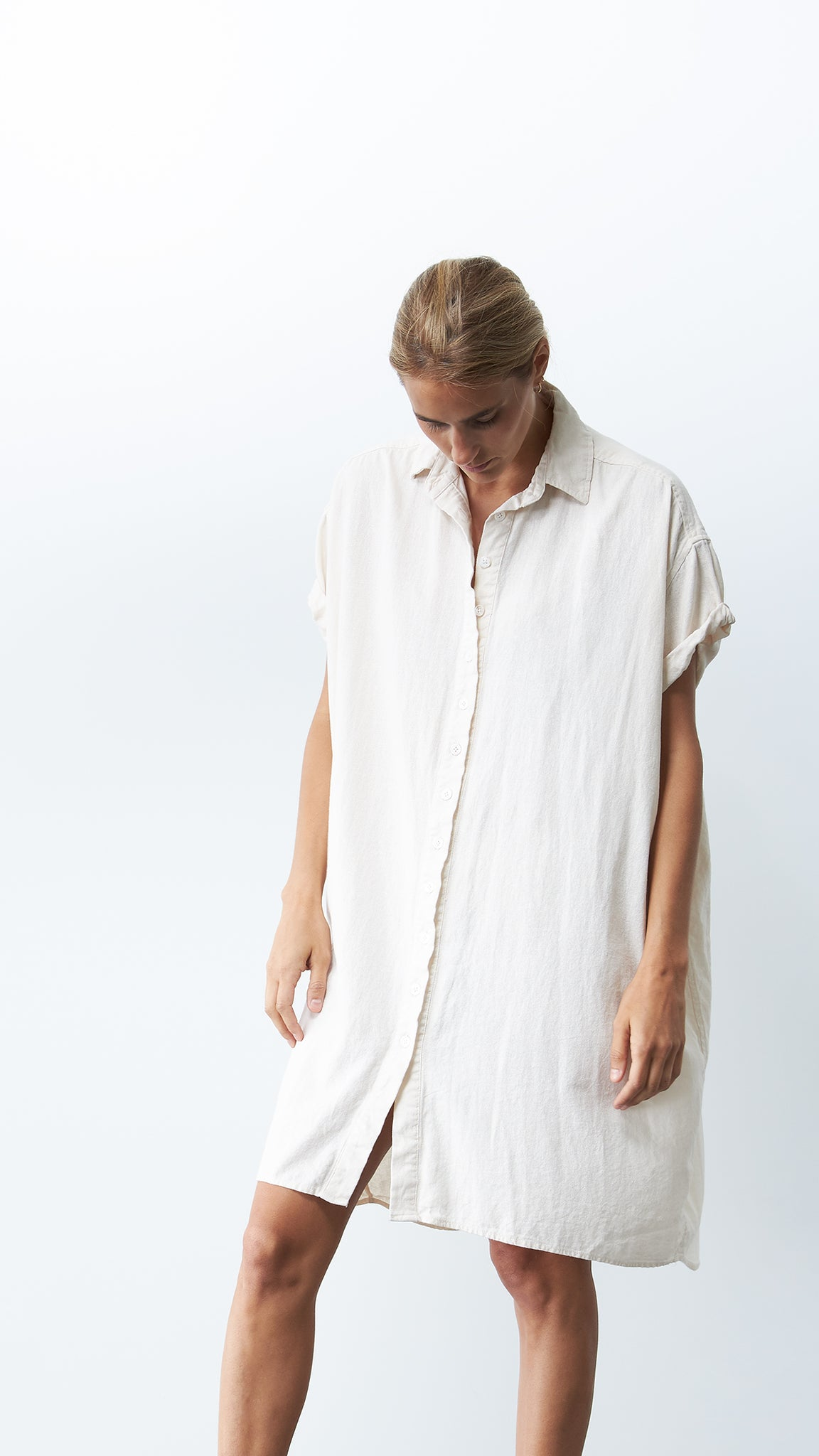 Rhodes Dress, <i>White Linen</i>