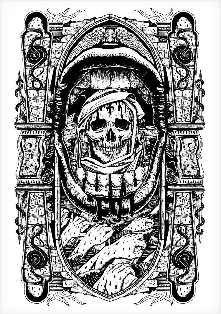 La Mort Clothing Tattoo shirt Design Pestilence Ink Drawing