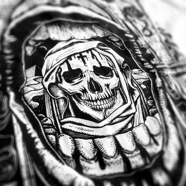 La Mort Clothing Tattoo shirt Design Pestilence Close up