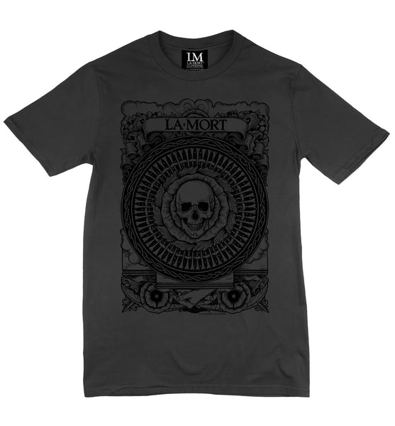Men's Black On Charcoal Soft Touch T Shirt