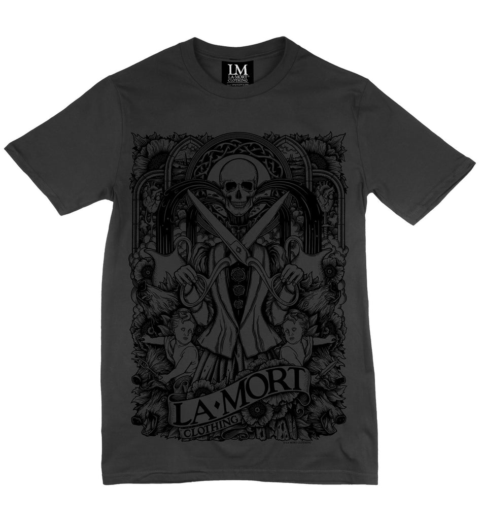Black On Charcoal T Shirt For Men