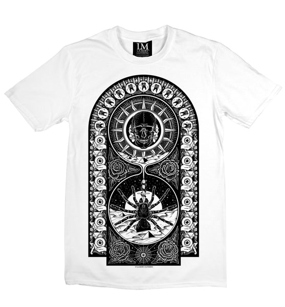 Black & White Spider Printed T Shirt