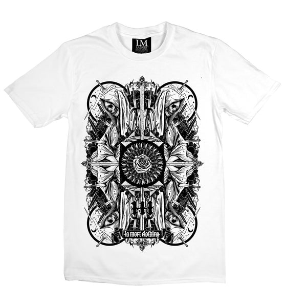 Men's Four Skulls Printed T Shirt