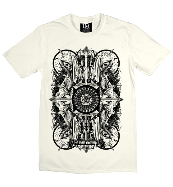 Black & White Skull Printed T Shirt For Men