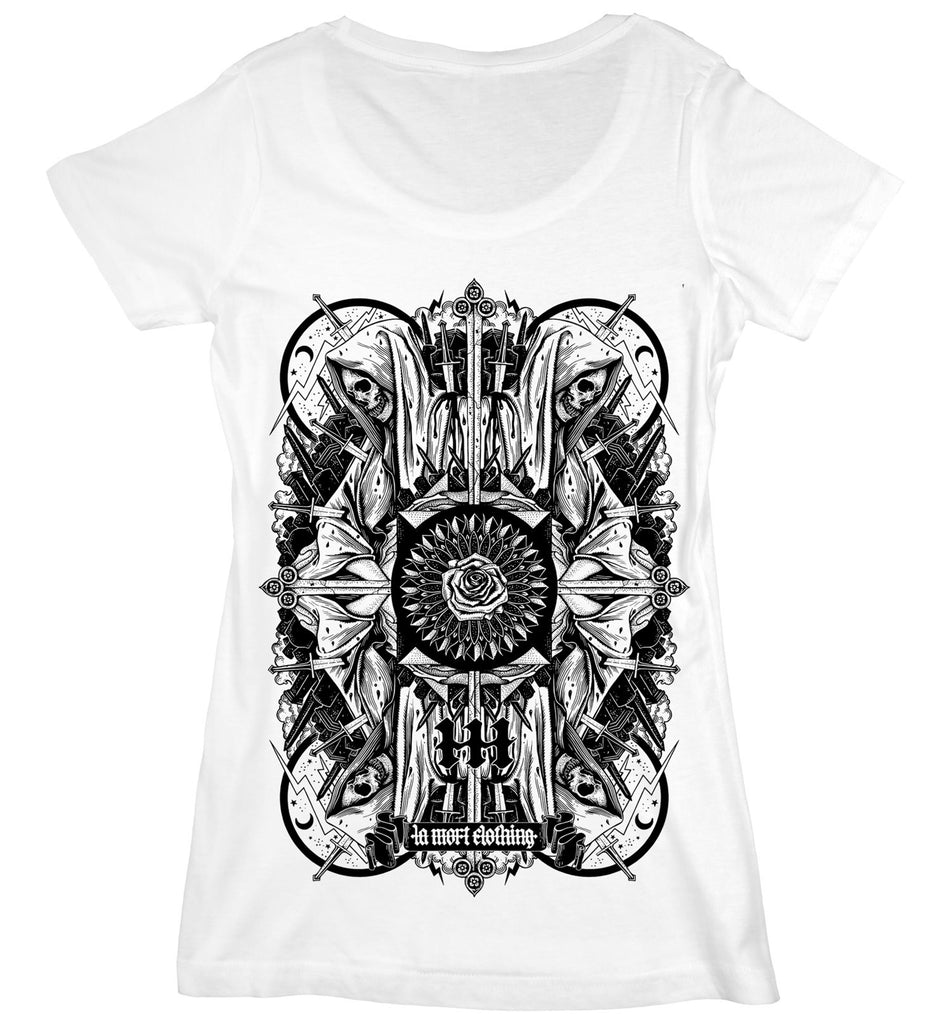 Women's Graphic Skull T Shirt