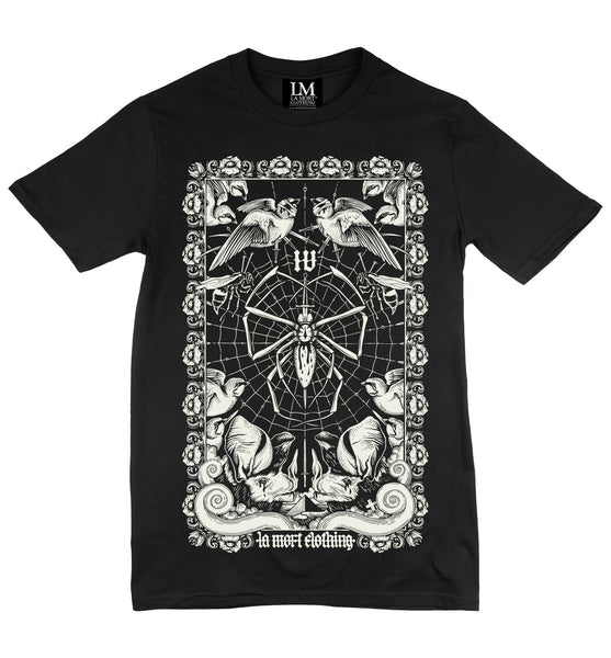 Men's Black & White Printed Flies T Shirt