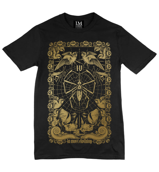 Men's Black & Gold Printed T Shirt