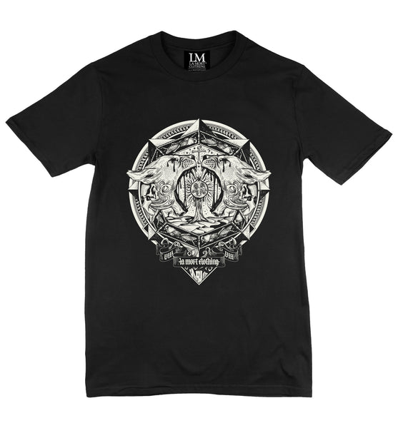 Men's White On Black Graphic T Shirt