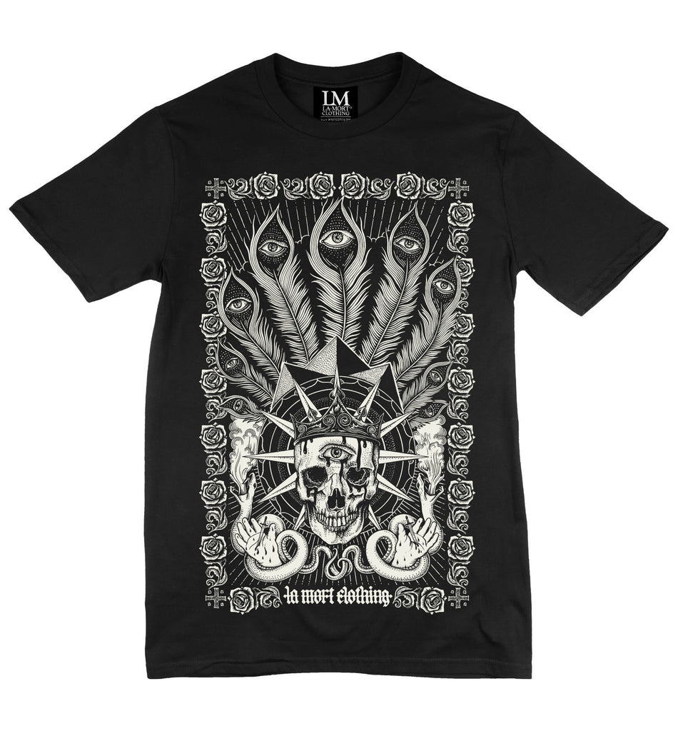 Men's Black & White Graphic T Shirt