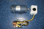 1/2HP Leeson Motor 12V - W/ Switch & Jumper Cable Style Connections