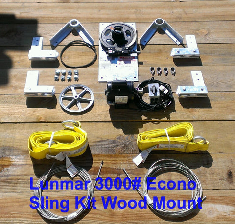 Lunmar Econo Sling Kit Wood Mount (3000#,4000#,6000#)