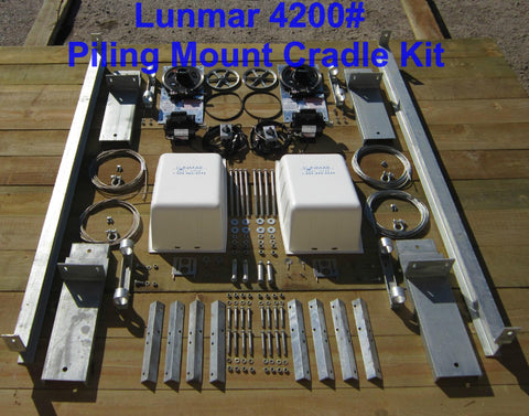 Lunmar (4200#, 5600#, 7000#, 10000#,) Piling Mount Cradle Kit