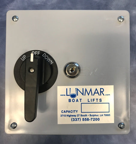 Lunmar Keyed Control Boat Lift Switch