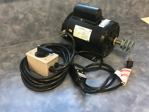 1 1/2HP Motor - TENV w/Switch, GFCI, & Wire