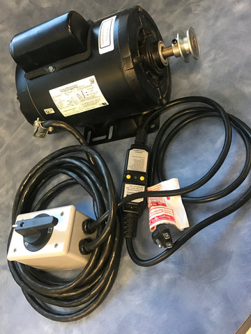 3/4HP Motor - TENV w/Switch, GFCI, & Wire