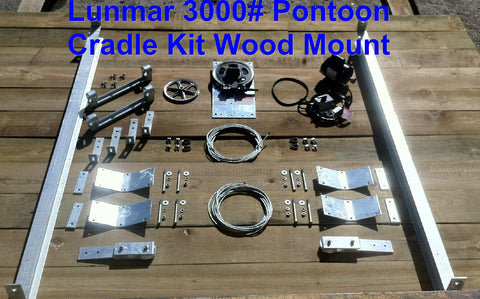 Lunmar Pontoon Cradle Kit Wood Mount (3000#, 4000#, 6000#)