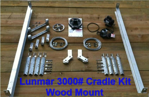 Lunmar 3000# Cradle Kit Wood Mount