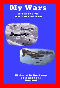 front cover of a blue paperback book with two pictures of airplanes and text